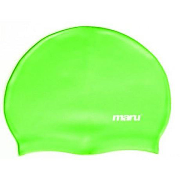 Maru - Plain Coloured Silicone Swim Hat - Green