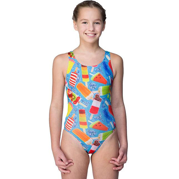 Maru - Popsicle Pacer Auto Back Girls Swimsuit - Aqua