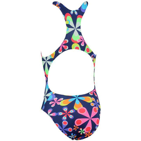 Maru - Spiro Pacer Rave Back Girls Swimsuit - Navy/Brights