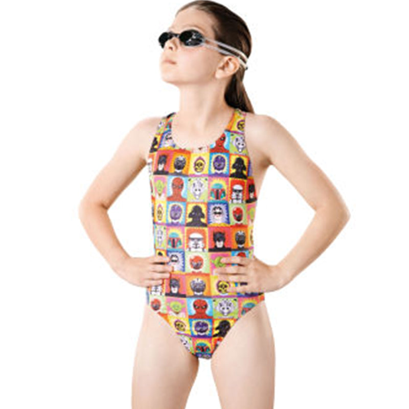 Maru - Super Hero Pacer Rave Back Girls Swimsuit