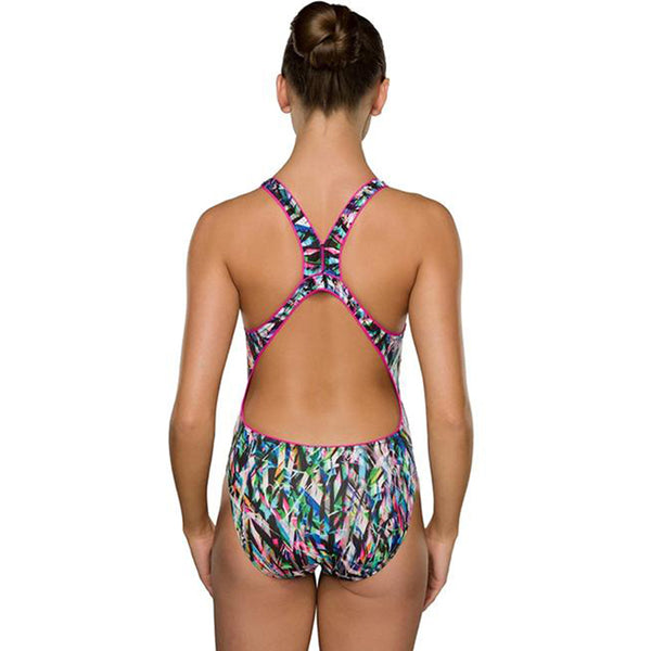 Maru - Ticker Tape Pacer Zone Back Ladies Swimsuit - Multi