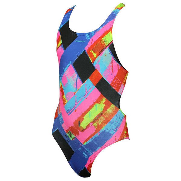 Maru - Woven Pacer Rave Back Girls Swimsuit
