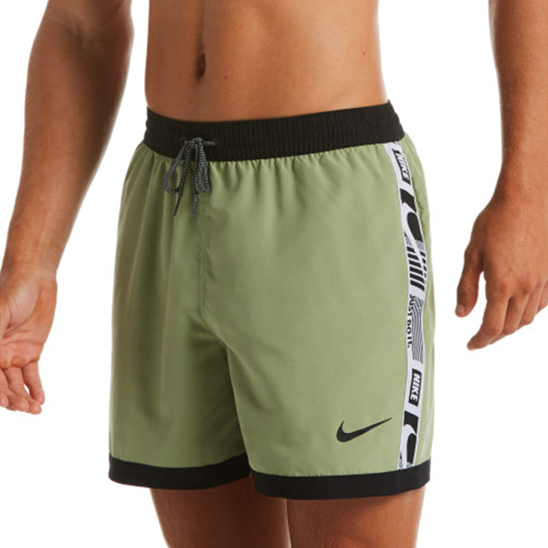 "Nike - Funfetti Racer 5"" Volley Short (Oil Green)"