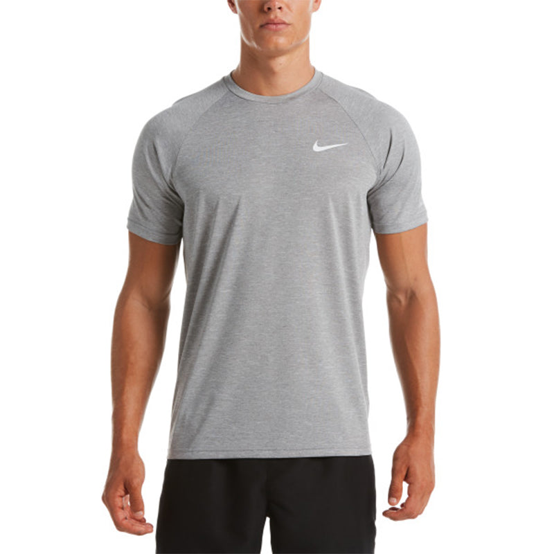 Chip Excremento Insatisfecho  Nike - Heather Short Sleeve Hydroguard (Particle Grey) | Aqua Swim Supplies