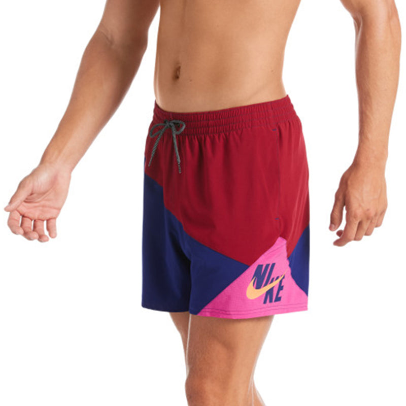 "Nike - Logo Jackknife 5"" Volley Short (Noble Red)"