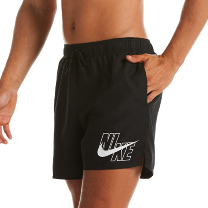"Nike - Logo Lap 5"" Volley Short (Black)"