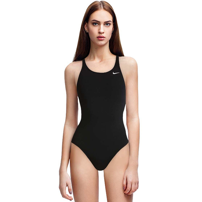Nike - Poly Solid Hydrastrong Fastback Girls One Piece (Black)