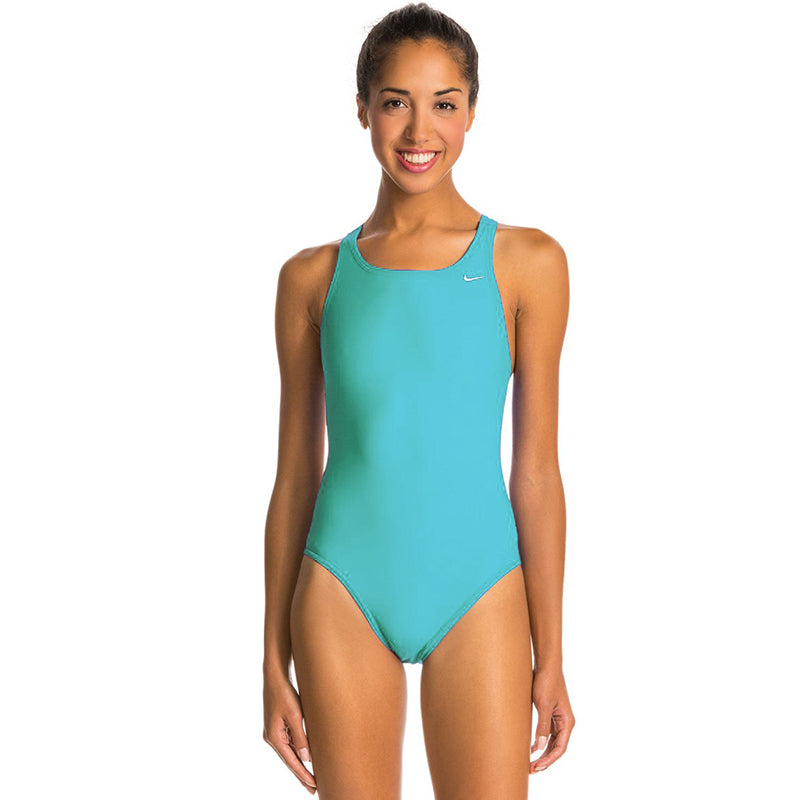 Nike - Poly Solid Hydrastrong Fastback One Piece (Aurora Green)