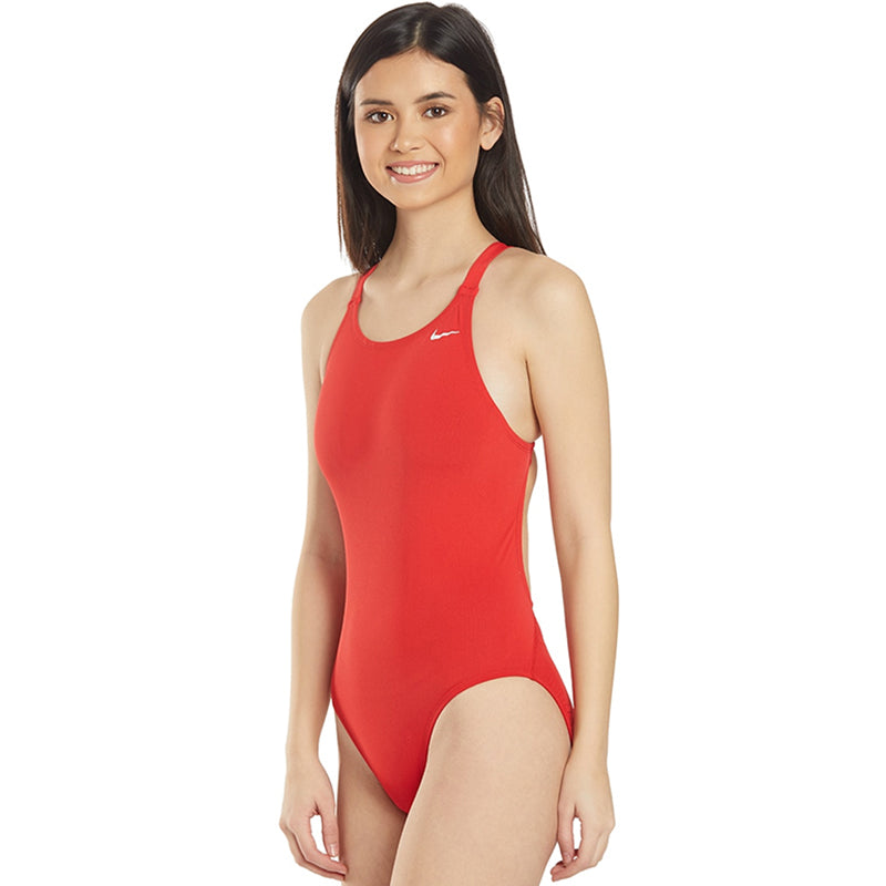 Nike - Poly Solid Hydrastrong Fastback One Piece (University Red)
