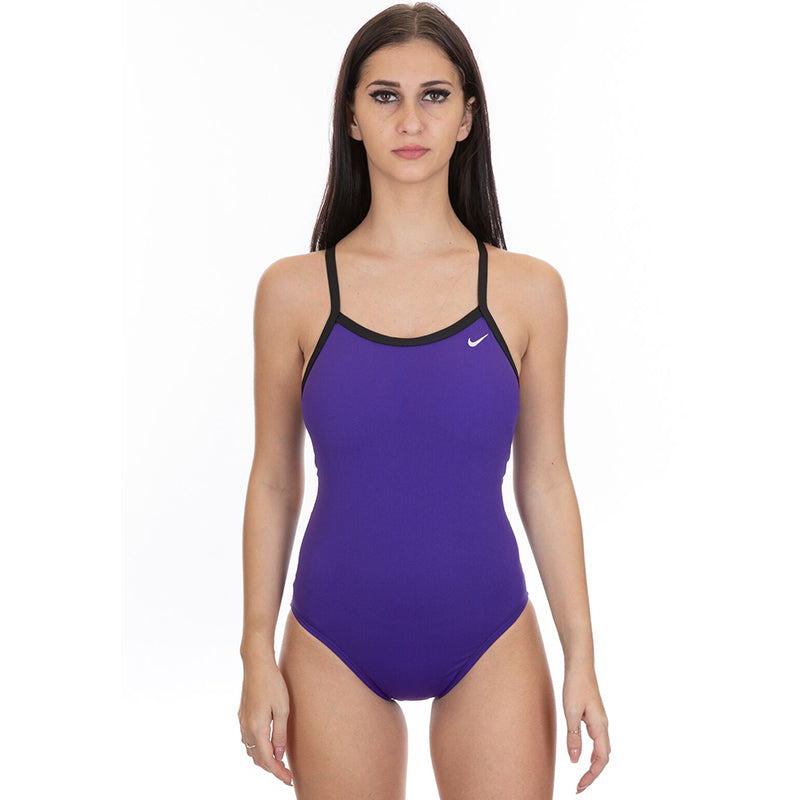 Nike - Solid Hydrastrong Racerback One Piece Swimsuit (Court Purple)