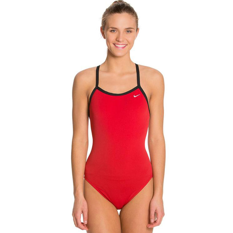 Nike - Solid Hydrastrong Racerback One Piece Swimsuit (University Red)