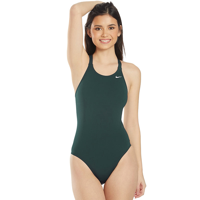 Nike - Poly Solid Hydrastrong Fastback One Piece (Galactic Jade)