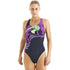 Speedo - ArrowBeat Placement Powerback Swimsuit - Black/Purple