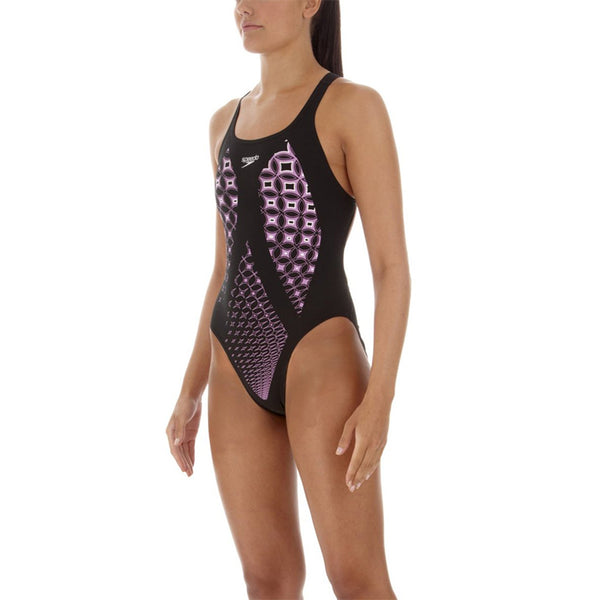 Speedo - Endurance Aqua Comet Leaderback One Piece Swimsuit