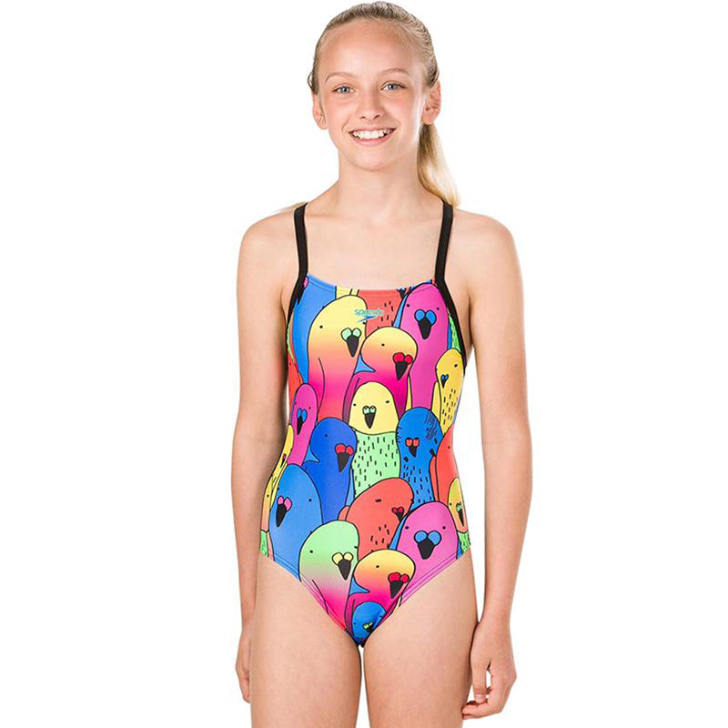 Speedo - Parrot Placement Digital Crossback Girls Swimsuit