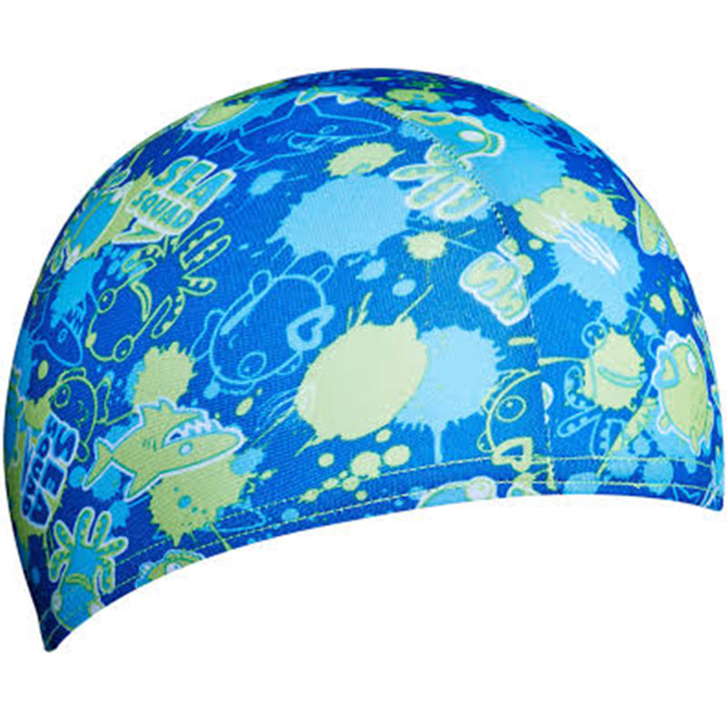 Speedo - Sea Squad Polyester Cap Swim Hat - Blue/Green