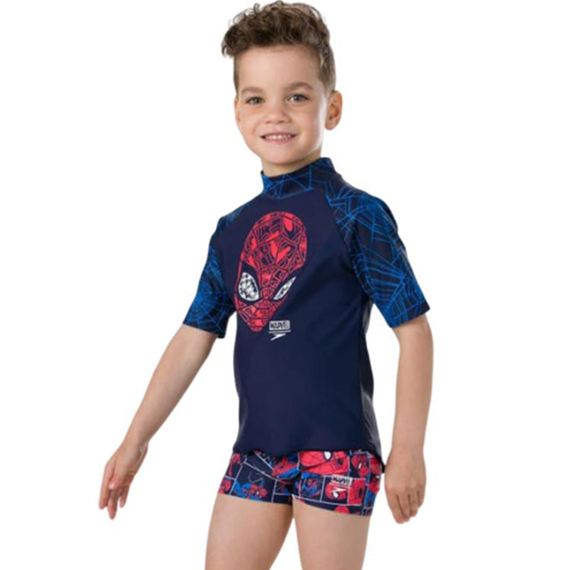Speedo - Spider Man Short Sleeve Rash Top