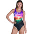 Speedo -  Sun Bloom Placement Digital Powerback Swimsuit