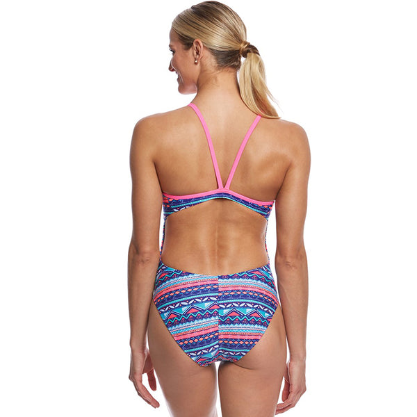 The Finals Funnies - Ditsy Doodles Wingback Swimsuit