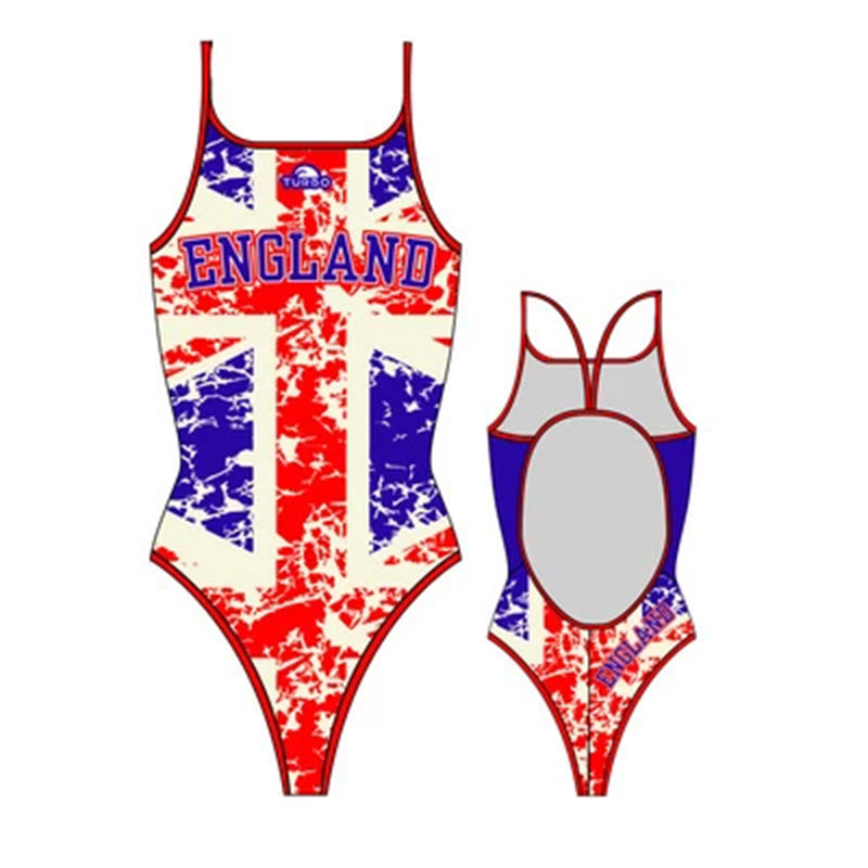 Turbo Ladies Swimwear - England Flag One Piece Swimsuit