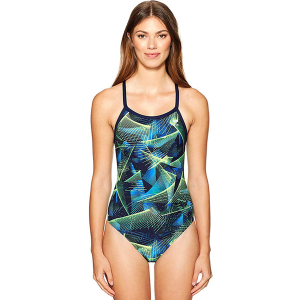TYR - Axis Diamondfit Ladies Swimsuit - Blue/Green