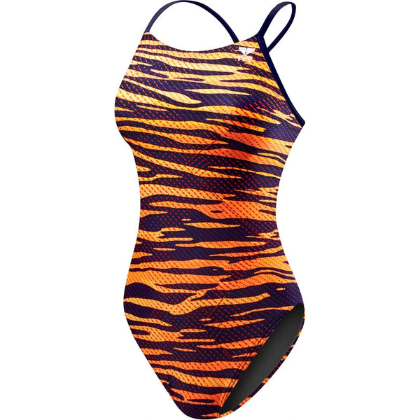 TYR - Crypsis Cutoutfit Ladies Swimsuit - Navy/Orange