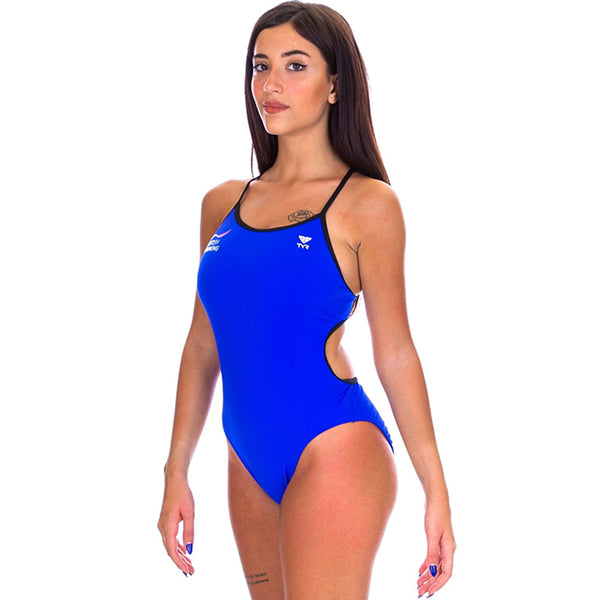 TYR - GB British Swimming Trinityfit Ladies Swimsuit - Royal Blue