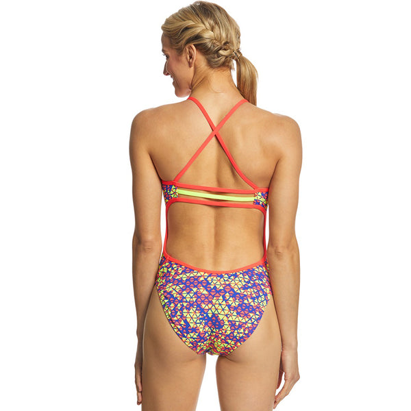 TYR - Modena Trinityfit Ladies Swimsuit - Yellow/Red