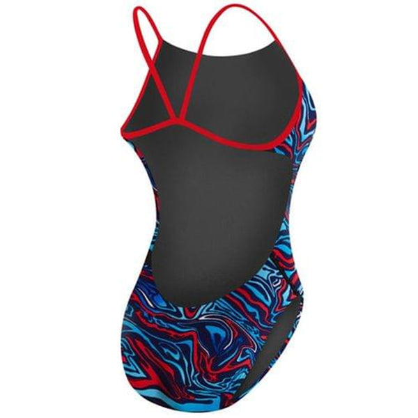 TYR - Heat Wave Cutoutfit Ladies Swimsuit - Navy/Red