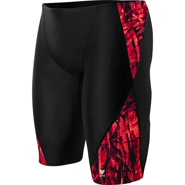 TYR - Men's Sagano Blade Splice Jammer Swimsuit - Red