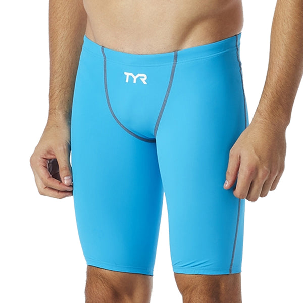 TYR - Thresher™ Mens Jammer Swimsuit - Blue/Grey