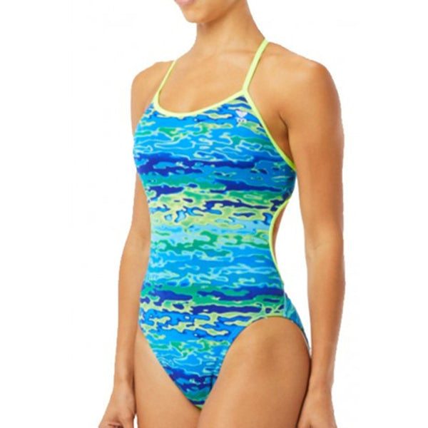 TYR - Serenity Trinityfit Ladies Swimsuit - Blue/Green
