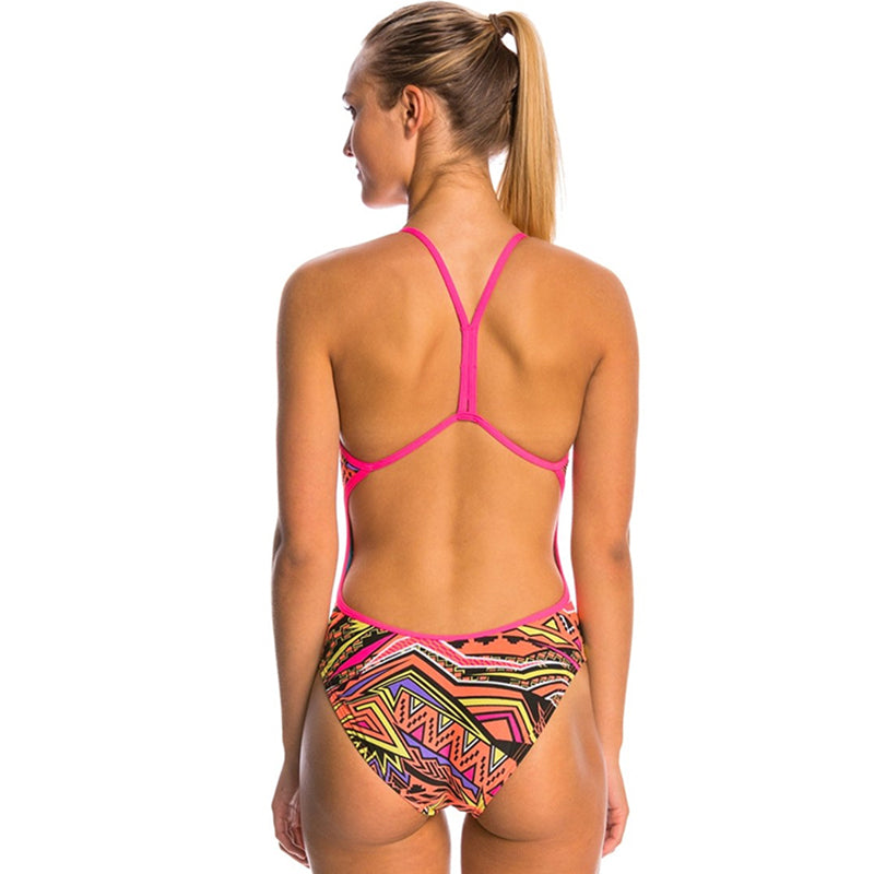 Ladies Swimming Costume Details about  /TYR Whaam Valley Fit Ladies Swimsuit