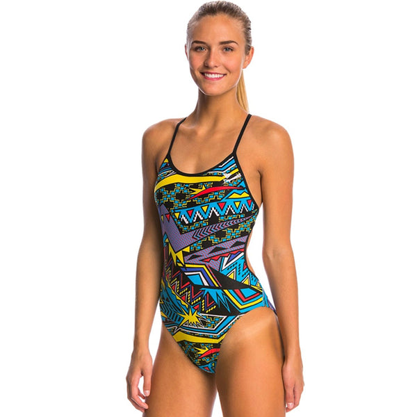 TYR - Whaam Valley Fit Ladies Swimsuit - Turquoise
