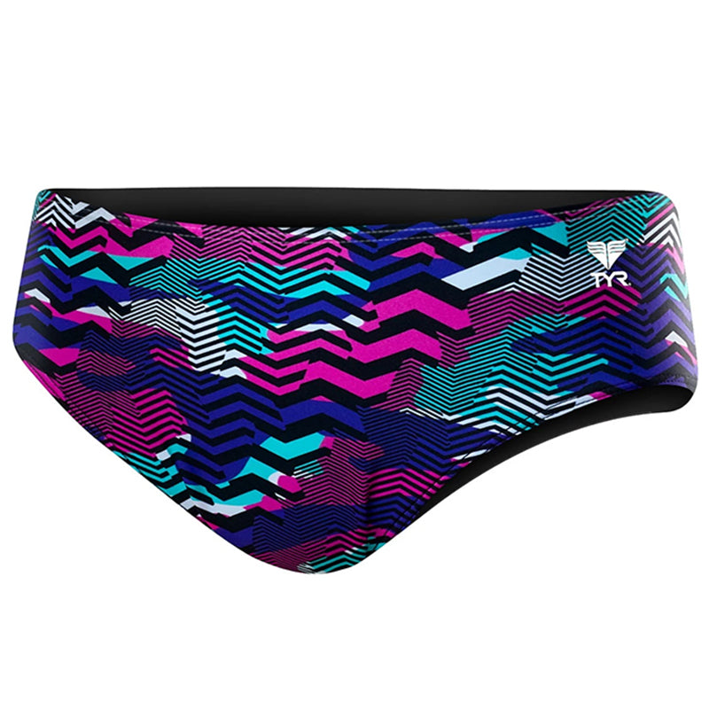 "TYR - Men's Teramo 3"" Racer Briefs - Purple/Turquoise"