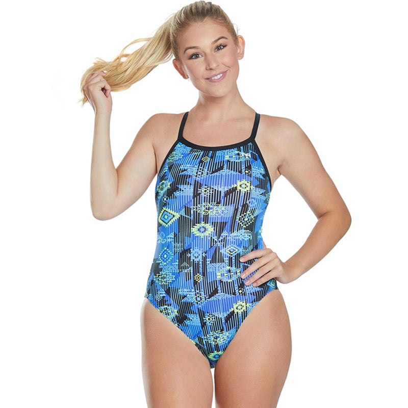 TYR - Azoic Diamondfit Ladies Swimsuit - Blue/Multi