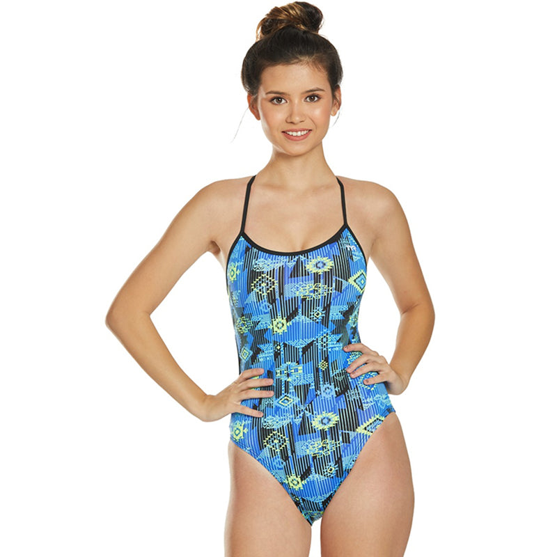 TYR - Azoic Trinityfit Ladies Swimsuit - Blue/Multi