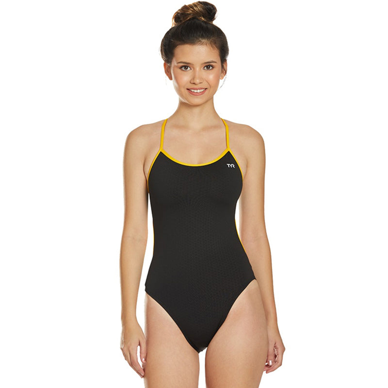 TYR - Hexa Trinityfit Ladies Swimsuit - Black/Gold