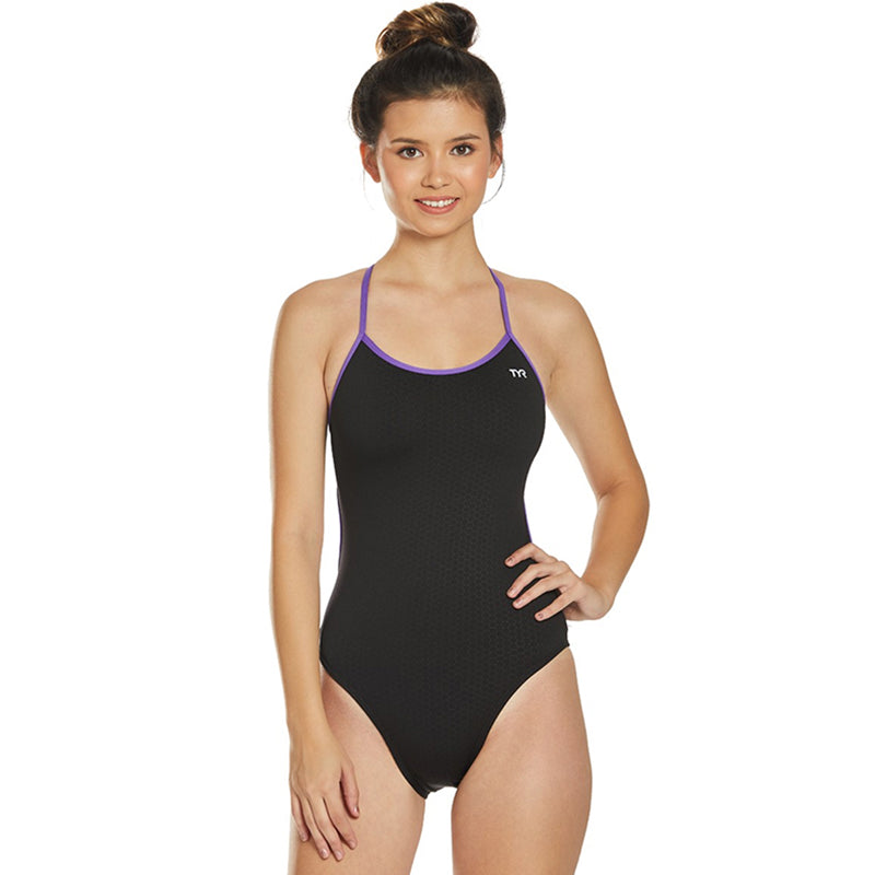 TYR - Hexa Trinityfit Ladies Swimsuit - Black/Purple