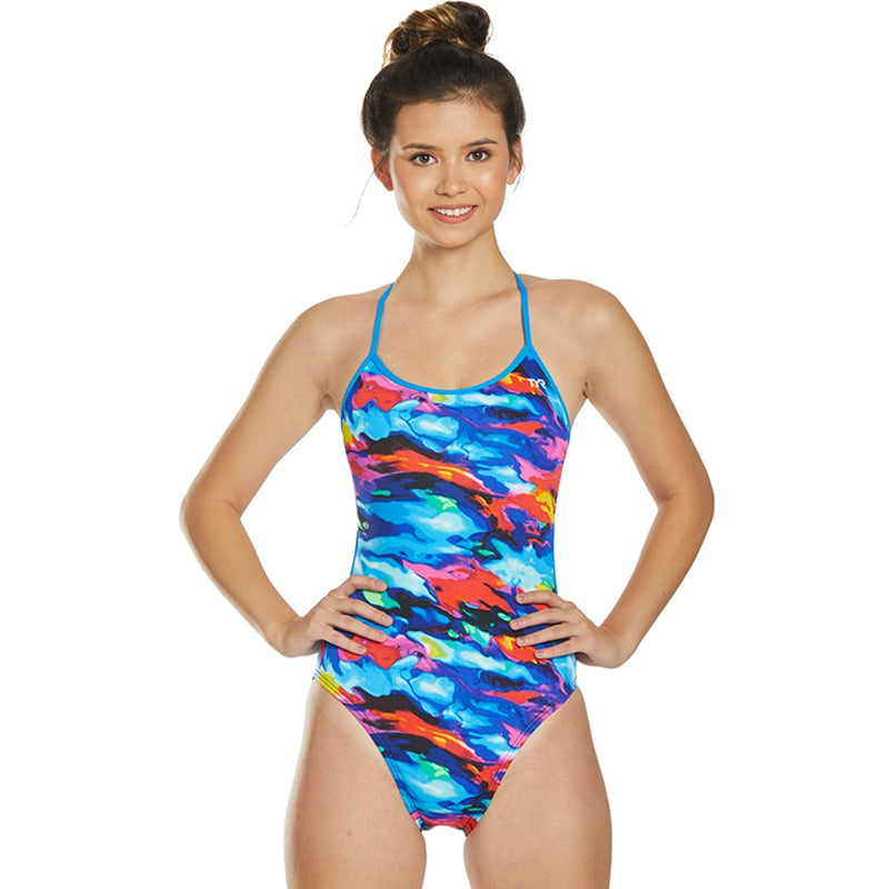 TYR - Synthesis Trinityfit Ladies Swimsuit - Blue/Multi