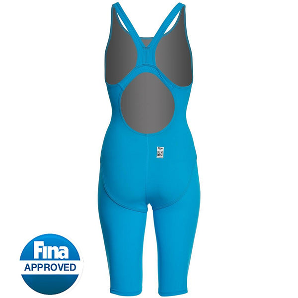 TYR - Thresher™ Open Back Ladies Competition Swimsuit - Blue/Grey