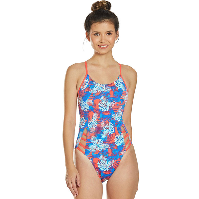 TYR - Tortuga Tetrafit Ladies Swimsuit - Teal/Multi