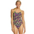 TYR - Waikiki Cutoutfit Ladies Swimsuit - Yellow/Purple