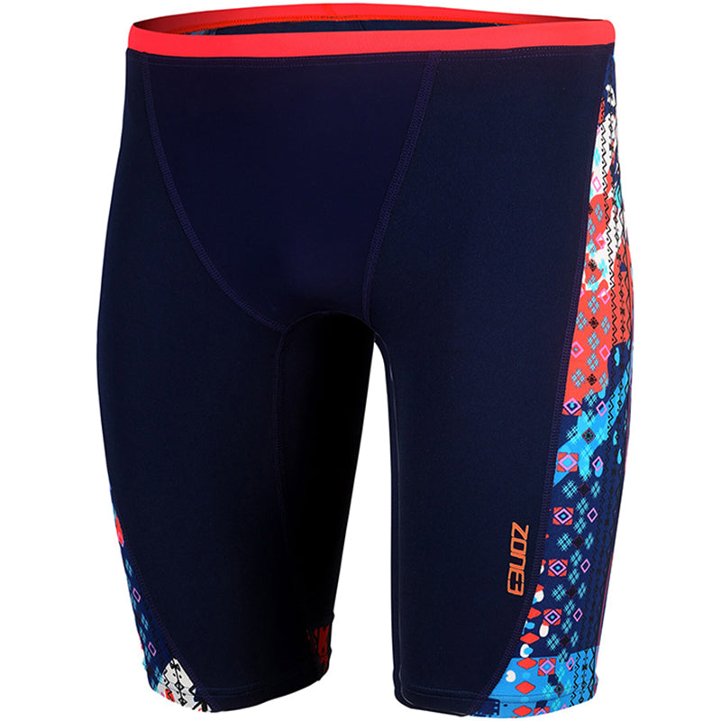 Zone3 - Aztec 2.0 Boys Jammers (Black/Red/Blue)