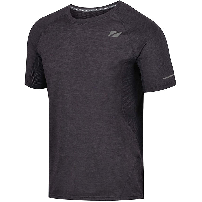 Zone3 - Men's Power Burst T-Shirt - Charcoal Marl/Gun Metal