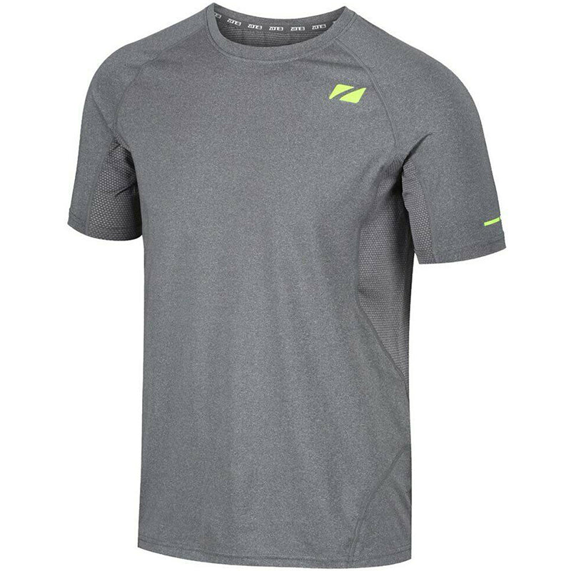 Zone3 - Men's Power Burst T-Shirt - Grey/Neon Yellow