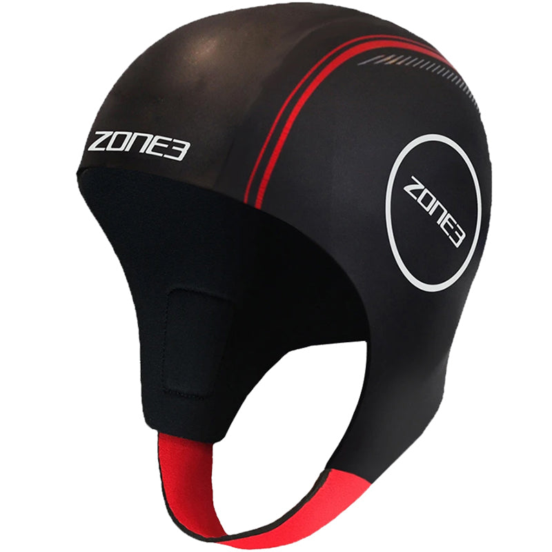 Zone3 - Neoprene Swim Cap - Black/Red