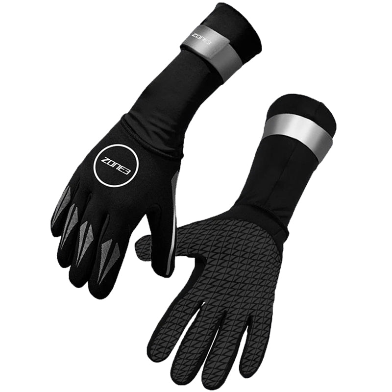 Zone3 - Neoprene Swim Gloves - Black/Silver
