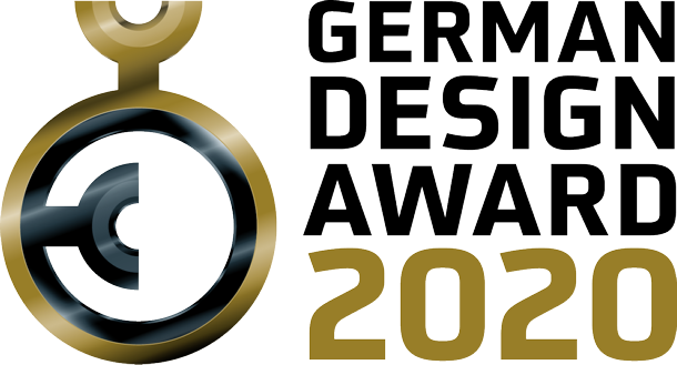 logo german design award 2020 verliehen an wildling schuhe