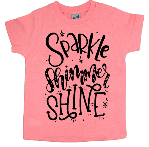 Sparkle Shimmer Shine, Spring Tee, Summer Tee, Kids Tee, Kids Shirt, Sweet Tee, Summer Tee